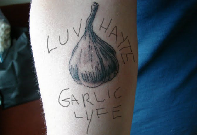 garlic tattoo